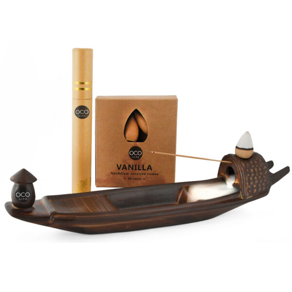 ceramic boat incense burner